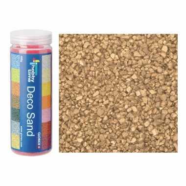 2x busjes fijn decoratie zand/kiezels goud 480 gram