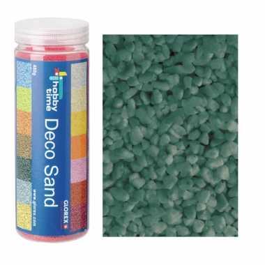 2x busjes grof decoratie zand/kiezels turquoise 500 gram