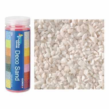 2x busjes grof decoratie zand/kiezels wit 500 gram
