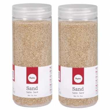 2x fijn decoratie zand creme 475 ml