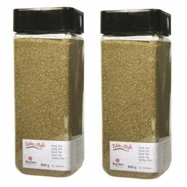 2x fijn decoratie zand goud 475 ml