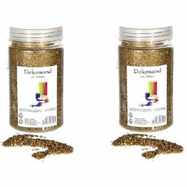 2x goudkleurige zand korreltjes 500 gram