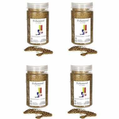 4x goudkleurige zand korreltjes 500 gram
