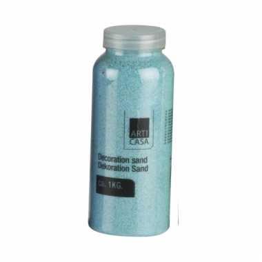 Blauw decoratie zand 1kg