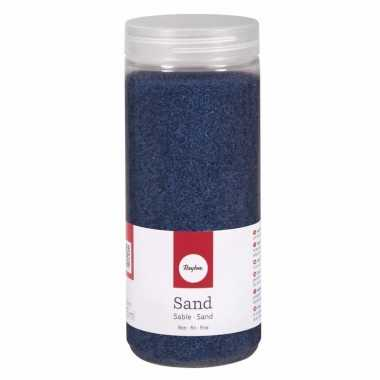 Blauwe decoratie zandkorrels fijn