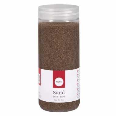 Bruine decoratie zandkorrels fijn