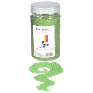 Decoratie korrelzand groen 500 gram