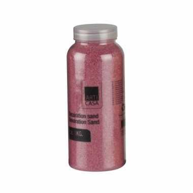 Roze decoratie zand 1kg