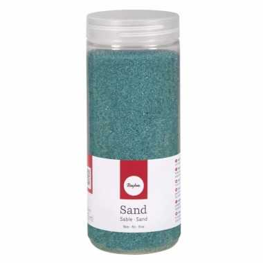 Turquoise decoratie zandkorrels fijn