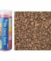 2x busjes fijn decoratie zand kiezels bruin 480 gram