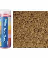 3x busjes fijn decoratie zand kiezels beige nature 480 gram