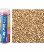 3x busjes fijn decoratie zand kiezels goud 480 gram