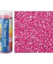 3x busjes fijn decoratie zand kiezels roze 480 gram