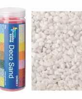 3x busjes fijn decoratie zand kiezels wit 480 gram