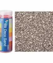 3x busjes fijn decoratie zand kiezels zilver 480 gram