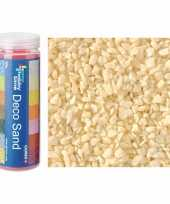 3x busjes grof decoratie zand kiezels creme wit 500 gram