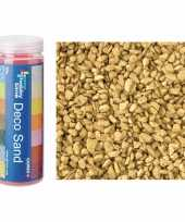3x busjes grof decoratie zand kiezels goud 500 gram