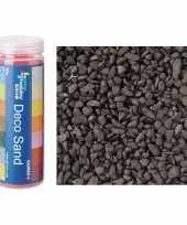 3x busjes grof decoratie zand kiezels zwart 500 gram