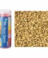 4x busjes grof decoratie zand kiezels goud 500 gram