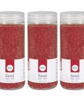 Rood decoratie zandkorrels fijn 10181365